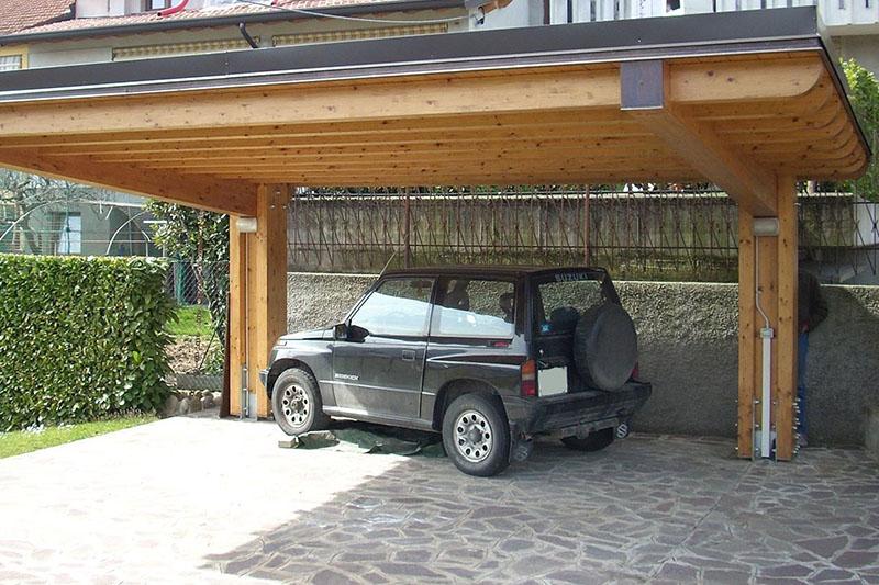 Tettoia Auto In Legno A Sbalzo Falegnameria Cortinovis Lorenzo